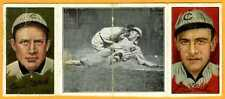 1912 Hassan baseball card Orval Overall, James Archer, Johnny Evers Chicago Cubs