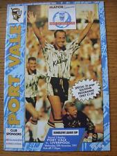20/11/1991 PORT VALE V Liverpool [FOOTBALL LEAGUE CUP REPLAY]. eventuali difetti con