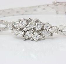 ♦♦Diamant Armband aus in 585 14kt Weiß Gold mit Brillanten Brillant Diamanten♦♦