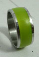 Yellow Green Chartreuse Metal Band Fashion Jewelry Ring Size 6.5