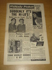 MELODY MAKER 1957 MAY 11 FREDDIE BELL TOMMY STEELE LITA ROZA JERRY LEWIS +