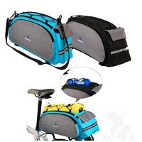 Bicycle Bag Bike Rear Seat Rack Waist Pack Shoulder Cycling Pannier Waterproof