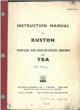 Ruston YBA Vertical Air-Cooled Diesel Engine Operators Manual