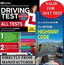 2017 Driving Theory Test & Hazard CD DVD + Official DSA Highway Code Book atPcHw