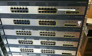 Cisco WS-C3750G-24TS-S V07 24 Port Gigabt Ethernet Switch for CCNA CCNP CCIE LAB