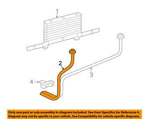 GM OEM Transmission Oil Cooler-Inlet pipe 15767599