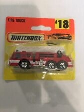 1996 Matchbox #18 Fire Truck New In Blister Pack