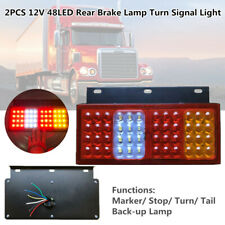 12V 48LED Car Truck Rear Brake Lamps Stud Mount Stop Turn Signal Light Stop/Tail