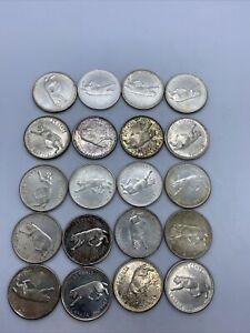 Lot Of 20 Canadian Silver Quarters 1967 Centennial