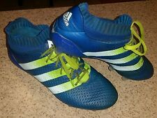 Adidas mens soccer cleats AQ5152 used size 9.5  FG sock cleats slip on with lace