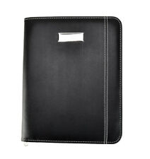 Black Faux Leather A5 Meeting, Conference Folder Business Portfolio CL-9583