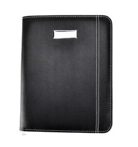 Black Faux Leather A5 Meeting, Conference Folder Business Portfolio CL-9583