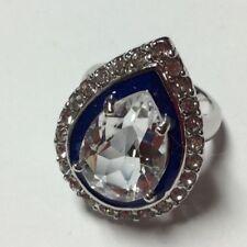 Kenneth J Lane KJL Pear Crystal & Blue Engagement Ring Size 5
