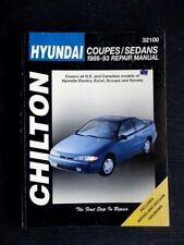 HYUNDAI Coupes / Sedans 1986-1993 ELANTRA-SONATA  Service / Repair Manual