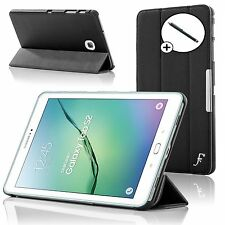 In Pelle Nera Pieghevole Smart Custodia Cover Samsung Galaxy TAB S2 8.0 T710 + Stylus