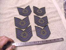 Current Issue E-6  Airman 1st Class Subdued OD Cloth Rank Patch Lot of 6