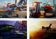 "4 Disney Store Lithographs Pixar's PLANES 2013 10"" X 14"" Lithos in a Portfolio"