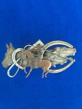 4 Horse Head Hair Barrette  Clip-Made in France 4 inches