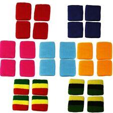 x 4 Sports Gym Terry SWEAT WRISTBANDS  Rasta - Jamaica - Plain Wrist Sweatbands
