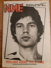 NME Newspaper June 28th 1980 Mick Jagger cover rolling away the stone interview