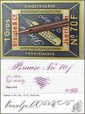 12 vintage Brause & Co 70  F nibs