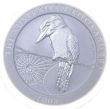 New Listing2008 Australian Australia Kookaburra High Relief 1 Oz Silver .999 *103
