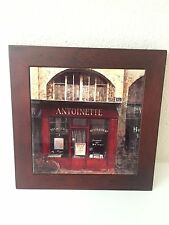 Antoinette Monogram France French Name Wood Sign Plaque Hanging Wall Art Gift