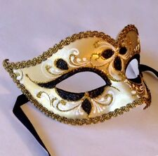 Masquerade Mask - MADE IN ITALY- OVERNIGHT Delivery  - Anna- Black Gold