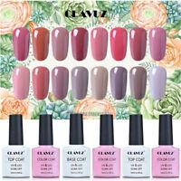 CLAVUZ Soak Off Gel Polish Varnish UV LED Nude Color Series Nail Manicure 10ML