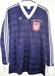 VTG ADIDAS USA USMNT US TEAM AMERICA SOCCER JERSEY FOOTBALL SHIRT MLS NASL 1980s