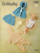 14 in (approx. 35.56 cm) Muñecas del bebé ropa patrón de ganchillo. (V Muñeca 12)