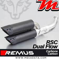 Echappement Remus RSC Dual Flow Carbone sans Cat Vespa GTV 300 Sei Giorni 2017