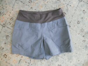 Prana Women's Size XS Blue Kanab Shorts Elastic Waist Pockets Hiking Camping