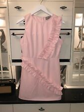 Baby Pink ASOS Frill Pencil Dress Size 12 Worn Once Smart Special Occasion