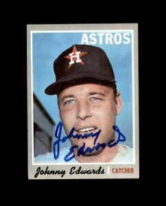 Johnny Edwards Signed 1970 Topps Houston Astros Autograph