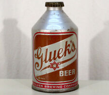 New ListingGluek'S Dncmt 4% Alcohol Crowntainer Cone Top Beer Can+Cap Minneapolis Minnesota