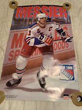 NY Rangers Mark Messier Captain Vintage NHL Poster 1994