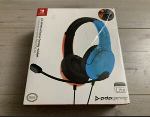 PDP/LVL40 Nintendo Switch Wired Headset Blue/Red All Consoles Compatible