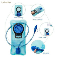 Portable Folding 2 Liter Water Hydro Backpack Bag Reservoir Hydration Bladder CA