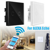 2gang 1 way WIFI Smart Wall Light on/off lamp Touch Switch For Amazon Alexa Echo
