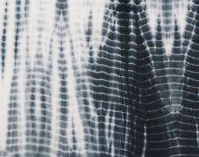 Cotton Fabric 2 Yards Hand-dyed SHIBORI India Bandhani Black White