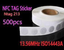 500pcs NFC Tag 13.56MHz ISO14443A Ntag 213 NFC Sticker 25mm Ntag213 RFID NFC Tag