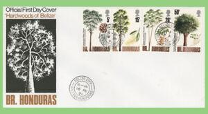 British Honduras 1971 Indigenous Hardwoods (3rd series) set First Day Cover