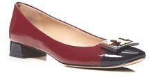 287 New TORY BURCH Gigi Shoes,7,Tuscan Red Wine,Patent Leather,Logo,Dust bag,NIB