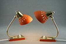 Pair of Small Lamps Brass Mid Century Modernist Italian Vintage 1950s 60s 70s
