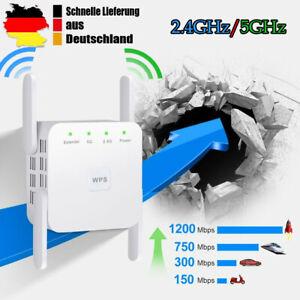 Wifi Wlan Router Booster 1200Mbit/s Wireless WLAN Repeater Signal Verstärker NEU