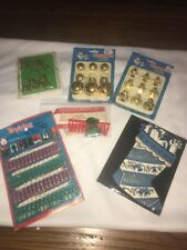 Dime Store Christmas Collectables Mini Gold Deer Bells Card Holder Gift Tags