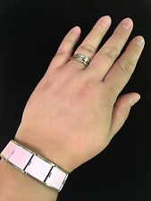 Italian Charm 18mm MEGALINK Pink Base Bracelet-Set Of 3 (With FREE GIFT)
