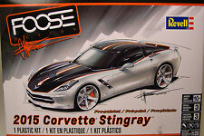 REVELL 1:25 SCALE CHIP FOOSE SERIES 2015 CVORVETTE STINGRAY PLASTIC MODEL KIT