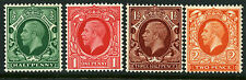 1934 ½d-2d PHOTOGRAVURE INTERMEDIATE FORMAT U/M SET OF FOUR. SG 439-442